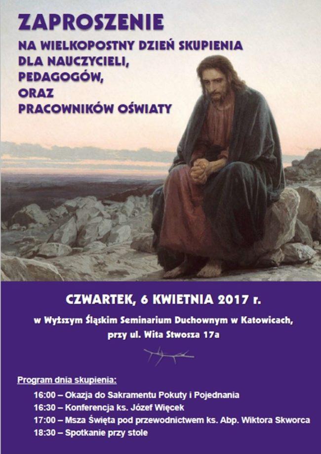 plakat Wielkopostny dzień skupienia