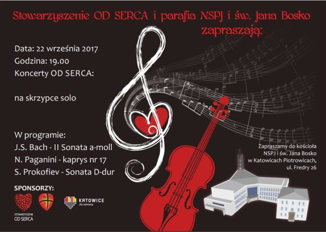 Koncerty OD SERCA na skrzypce solo 22_09_2017